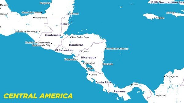Map of Central-America