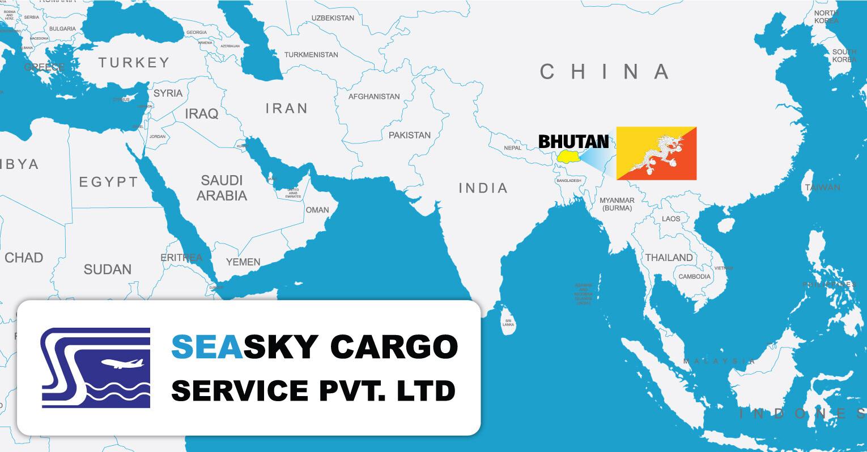 Sea-Sky-Cargo-Bhutan-Map