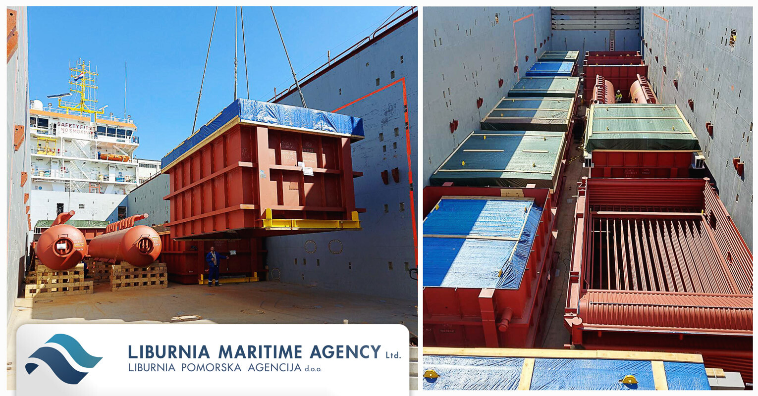 Despite Corona Issues Work Has to Go On - Liburnia Loaded the 2nd Lot of a Big Project to UK