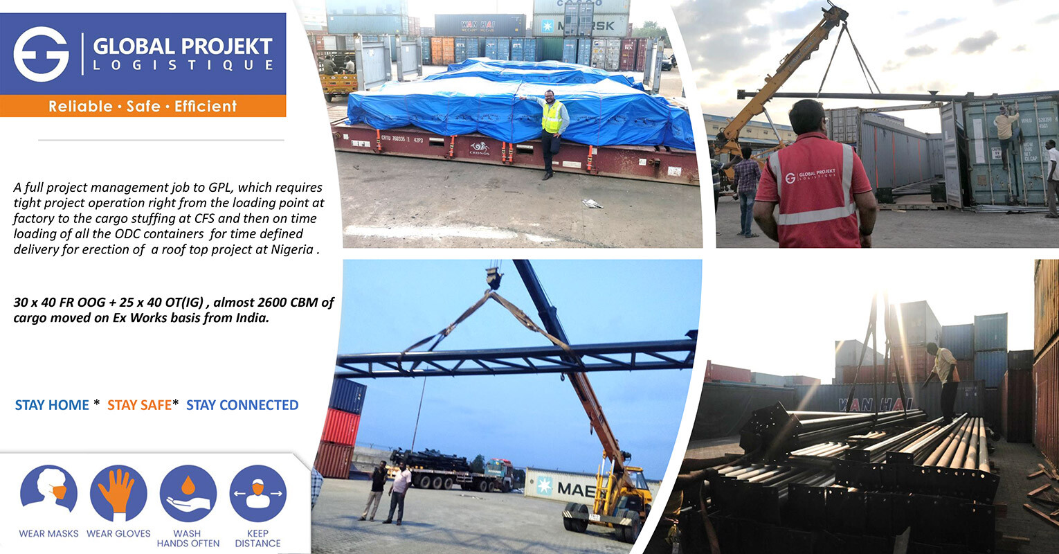 Global Projekt Lgistique Recently Shipped Apapa for a Roof Top Project for Nigeria 1