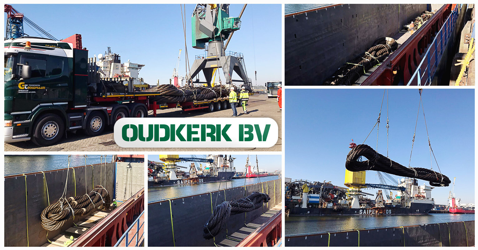 Oudkerk Transported 4 × 50 tons Grommets from Rotterdam to Norway by Chartered Coaster Vessel