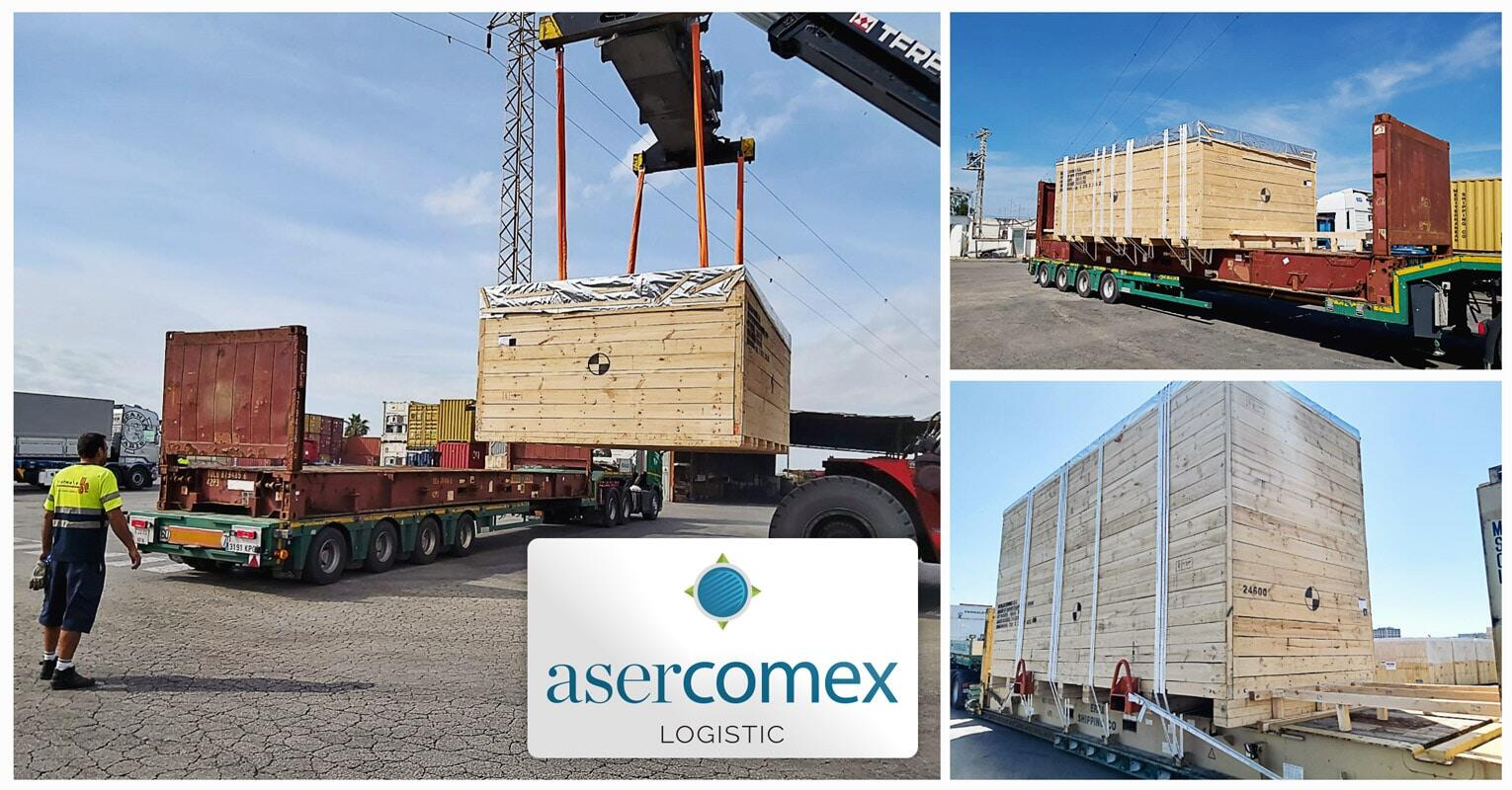 Asercomex Shipped Machinery from Spain to China