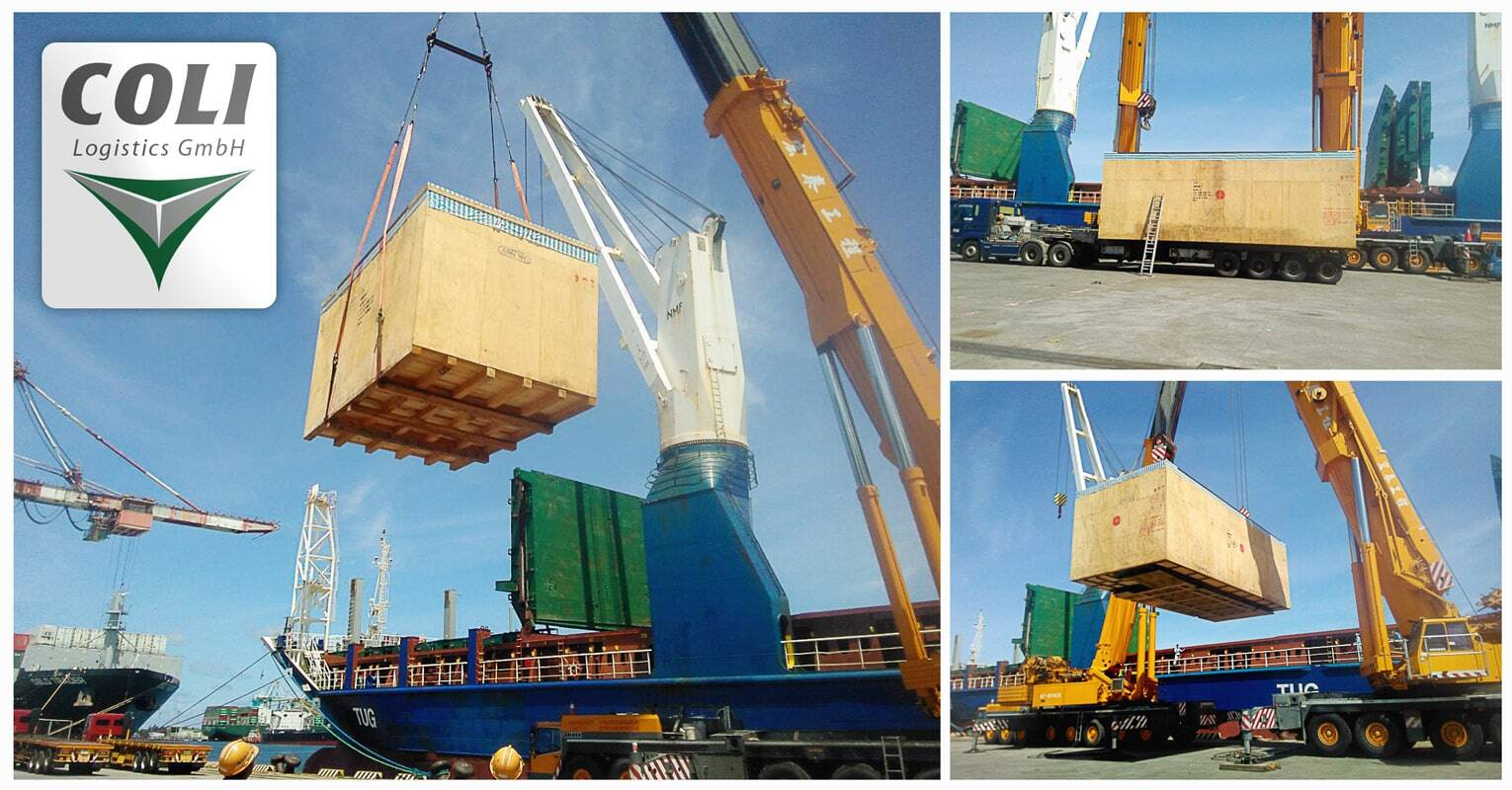 COLI Project Cargo Handled Breakbulk Cargo from Kaoshiung, Taiwan to Ambarli, Turkey