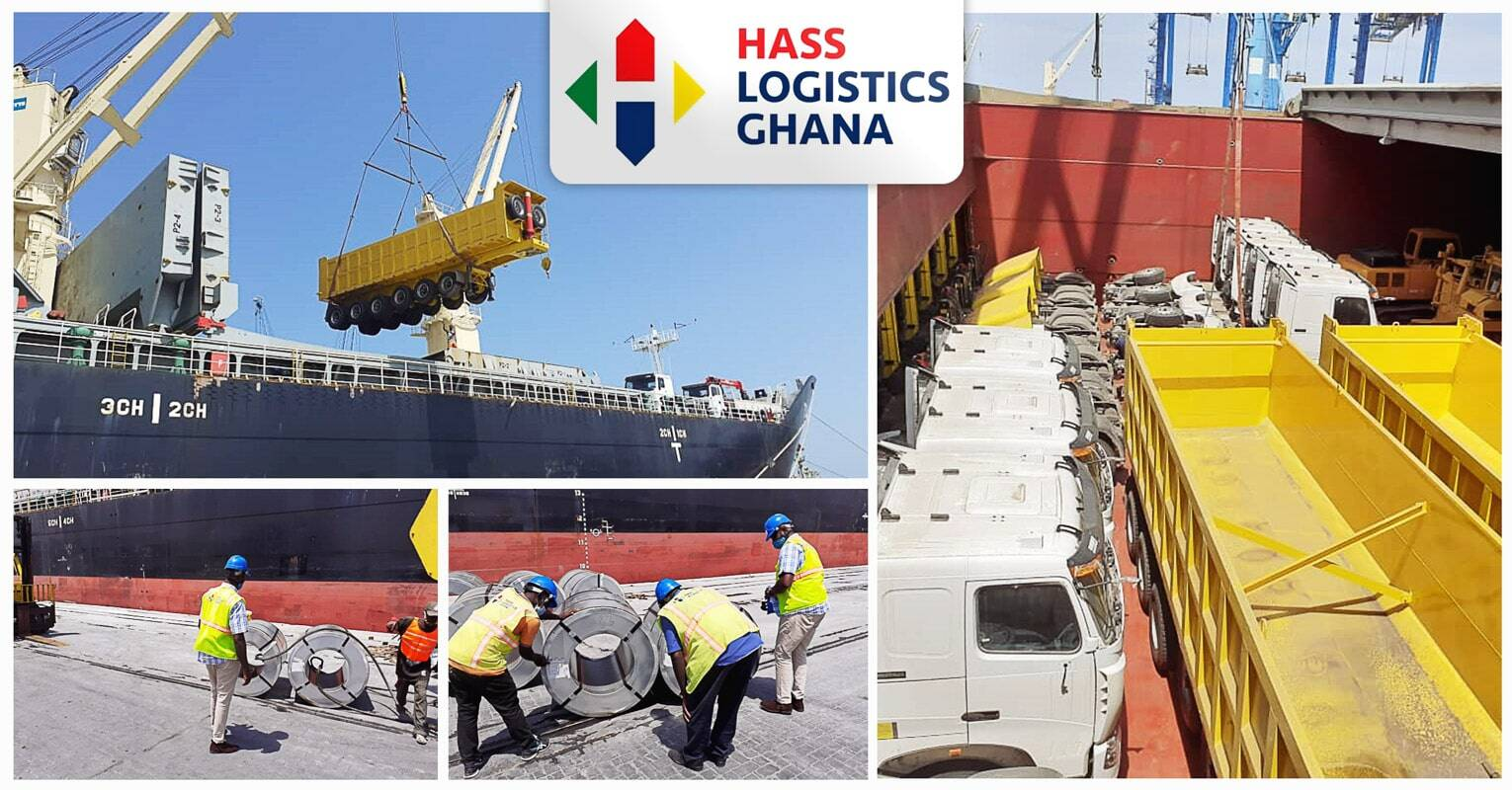 Hass Logistics Ghana Discharged Steel Products, Trucks and other Project Cargo in the Port of Tema