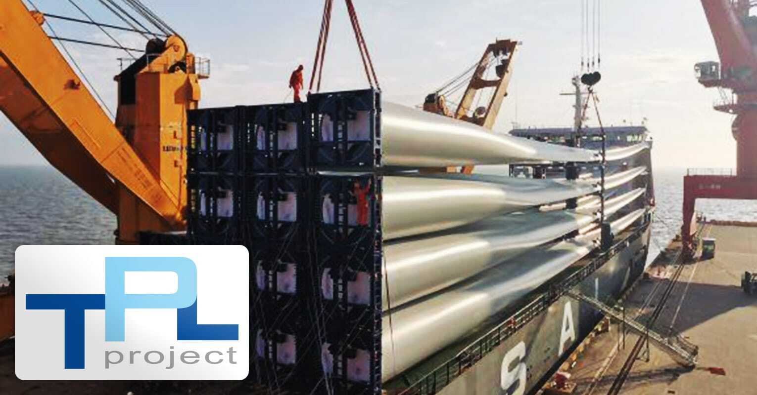 TPL Project Shipped Wind Turbine Blades from Shanghai to the US