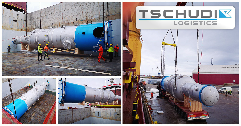 Tschudi Handled the Cargo Reception and Transshipment for a Large Boiler in Port of Paldiski, Estonia