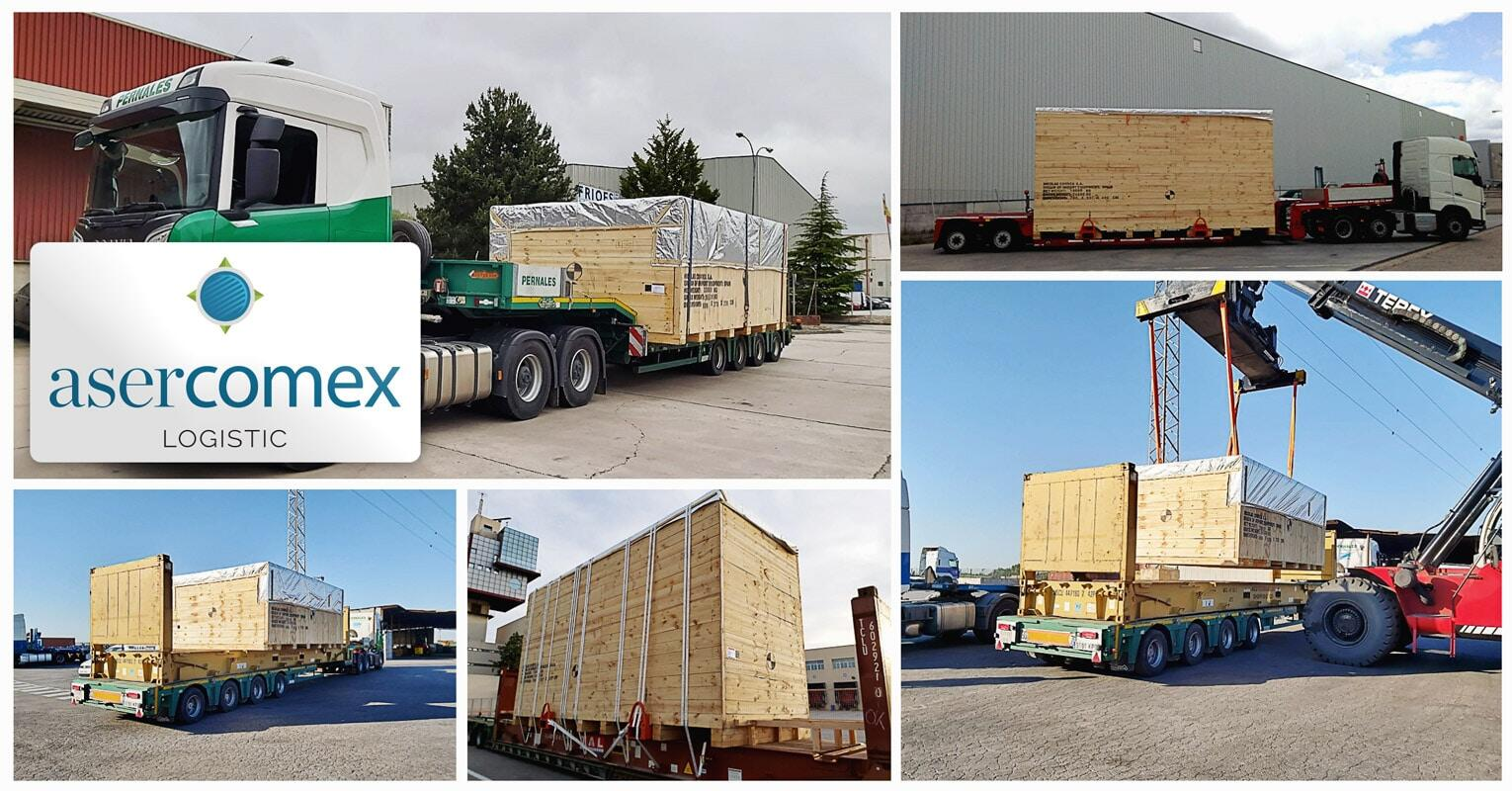 Asercomex Shipped a Large Machine from Burgos (Spain) to Yantian (China)