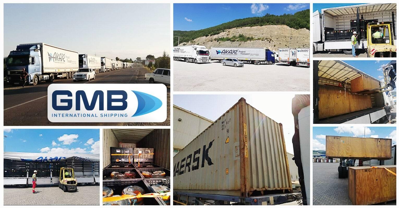 G M B International Shipping Handled 15 x 40ft Containers + 15 Trailers from Doha, Qatar to Baku, Azerbaijan