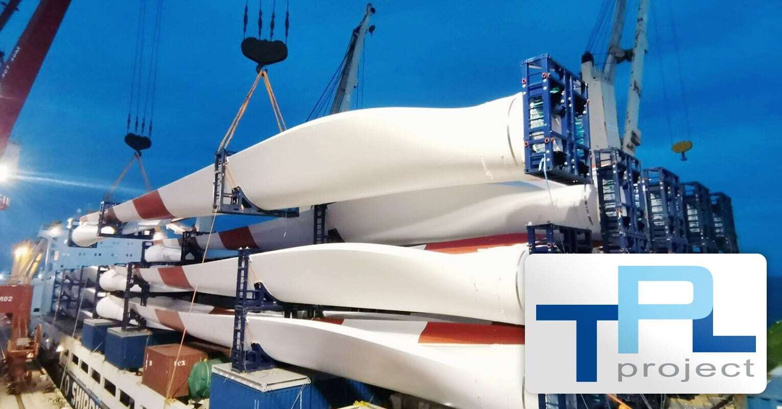 TPL Project Shipped 60 x G114 Wind Turbine Blades from Shanghai Nangang Port to Egypt