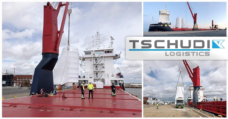 Tschudi Logistics Sweden Once Again Completed a Safe Transport of Vertical LNG Tanks