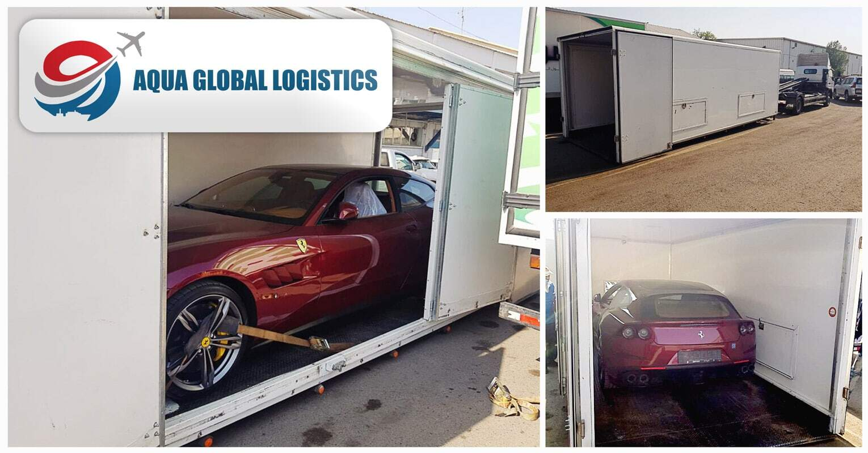 Aqua Global Logistics Transporting a Ferrari GTC4 LUSSO to Saudi Arabia