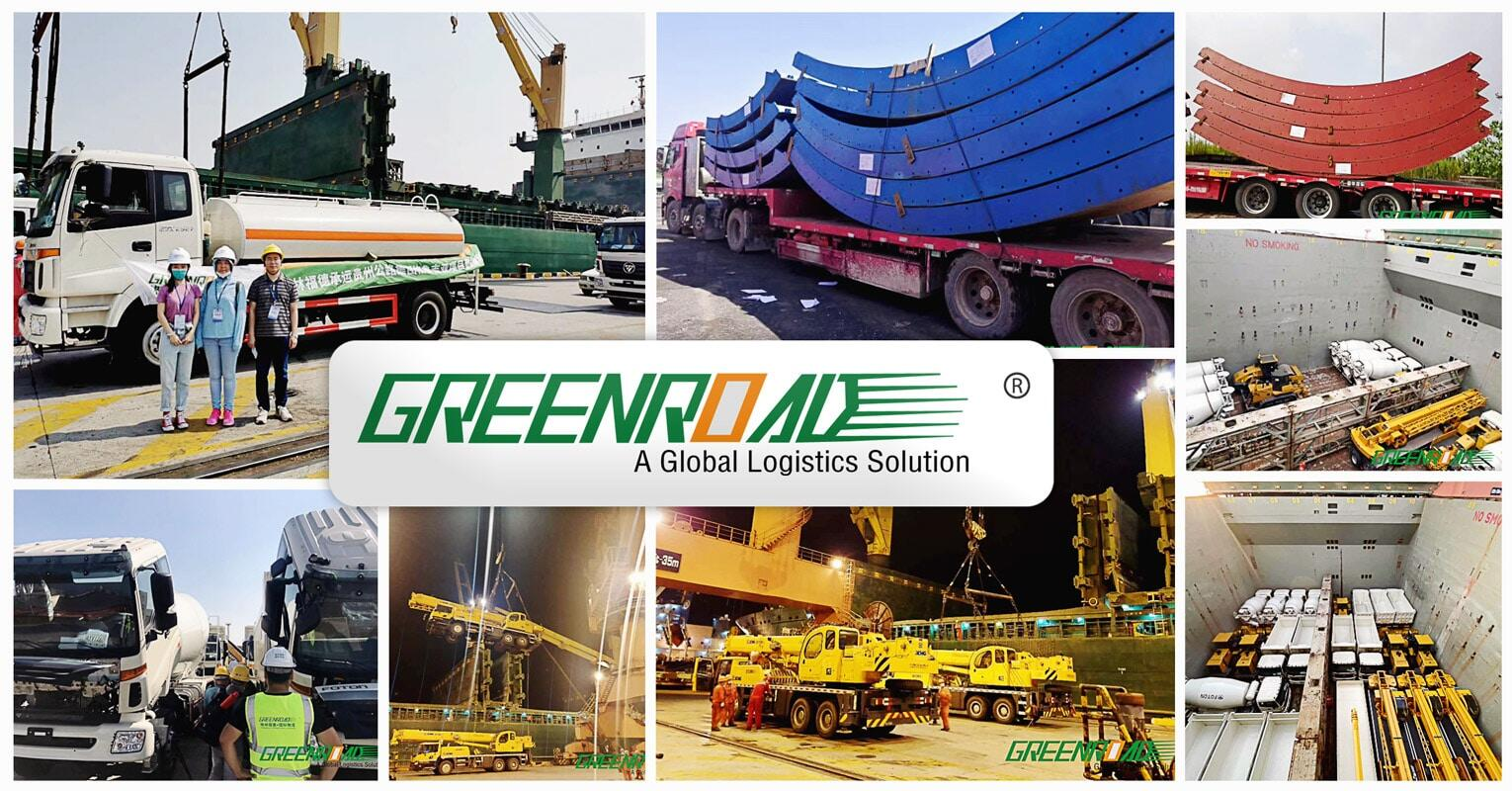 Greenroad Handles 4500 CBM o f Vehicle Equipment and Steel Structures