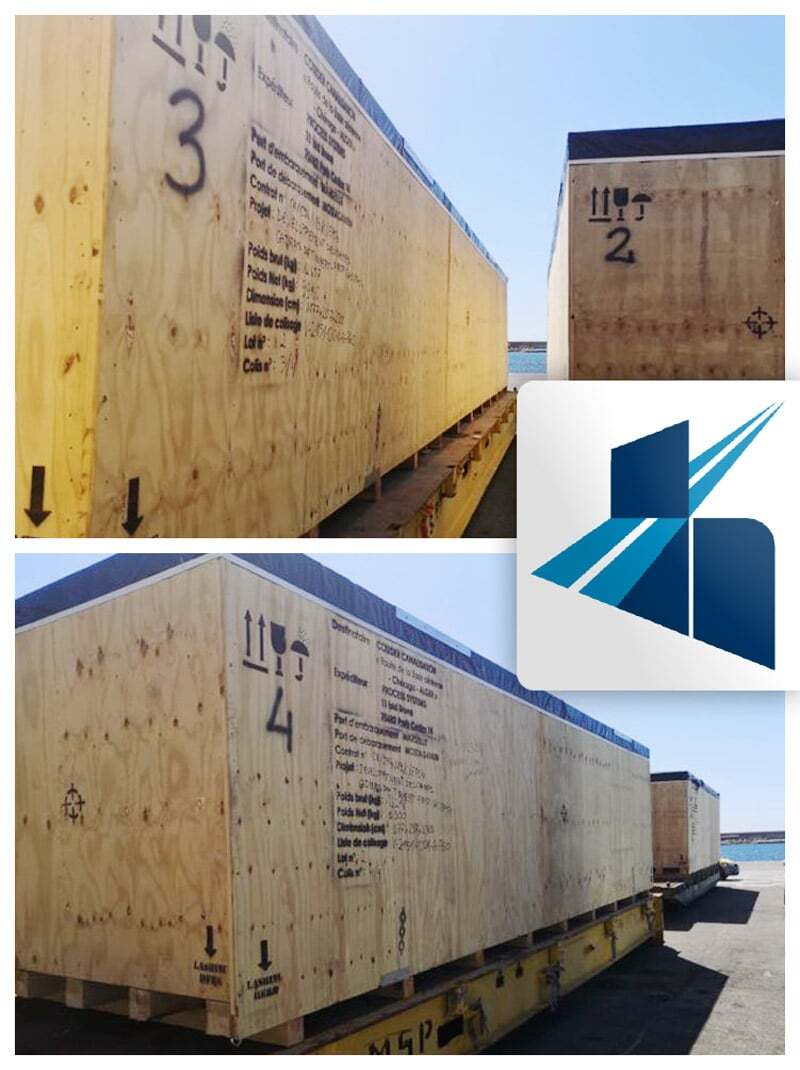 Michel Hurel Transport Group Loaded Project Cargo Mostaganem, Algeria from Marseille, France