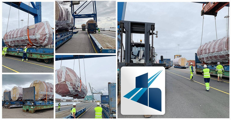 Michel Hurel Transport Loading 3 Units in Copenhagen Malmˆ Port for Nestlé to Russia