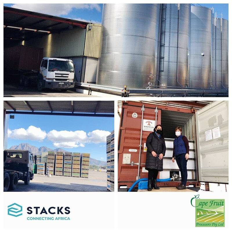 STACKS South Africa Assisted Cape Fruit Processors to Deliver 90,000 Litres of Apple Juice Concentrate in Irradiated Flexitanks