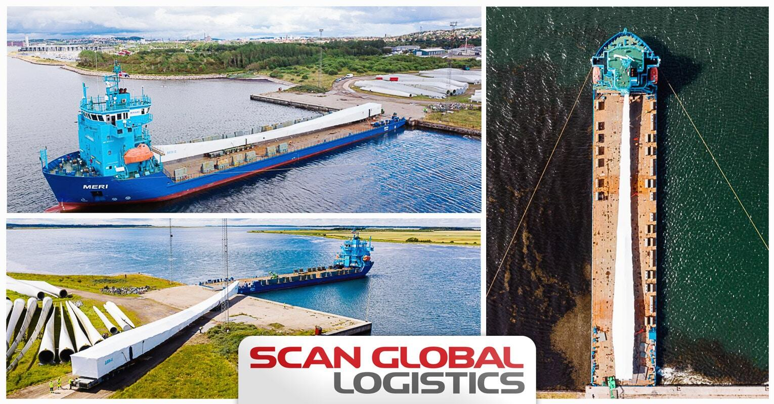 Scan Global Logistics Performed a Wind Turbine Cargo Load Out
