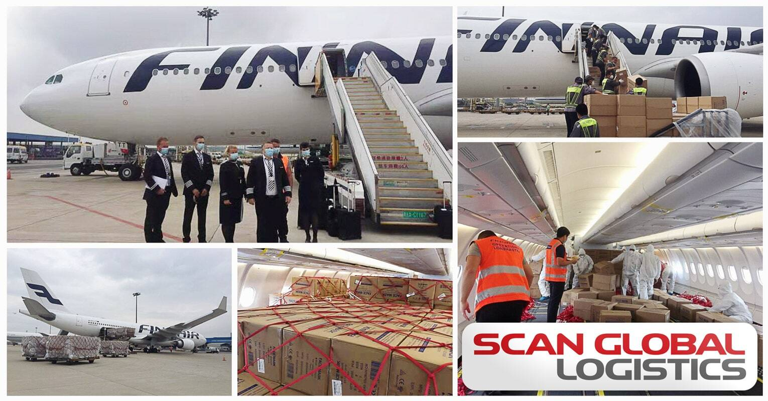 Scan Global Logistics Delivered 6 Million Face Masks Filling 200 CBM, Weighing 24 Tons from Beijing to Finland