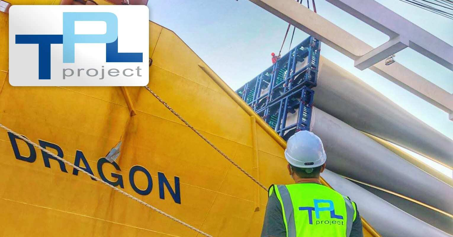 TPL Project Loaded 21 pcs of G126 Wind Turbine Blades at Shanghai Luojing Breakbulk Terminal Destined for the US Under FAS Terms