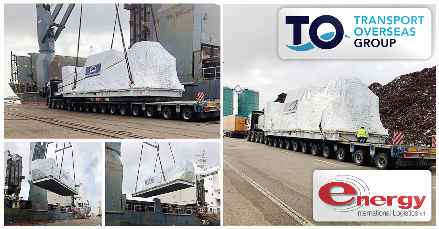 Energy International Logistics was Appointed by Trans Overseas Shipping Bremen to Handle 120-ton Machinery to Hook Vessel in Venice