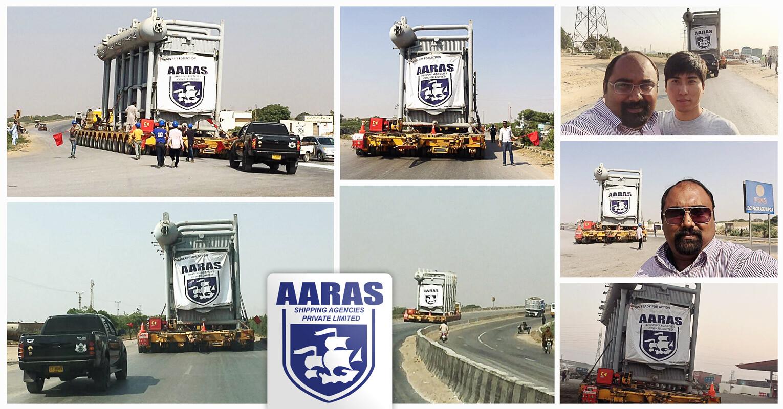 AARAS Handled a Heavy Transformer to Destination