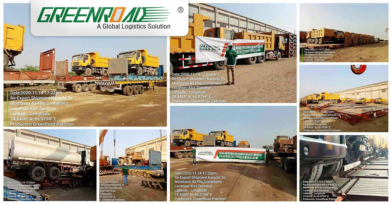 Greenroad Transported Used Vehicles and Machines from Karachi, Pakistan to Mombasa, Kenya