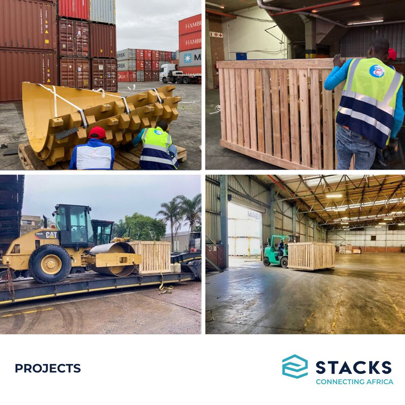 STACKS South Africa Crated and Shipped Caterpillar Parts and Equipment to a Mine in Burkina Faso via RORO Vessel