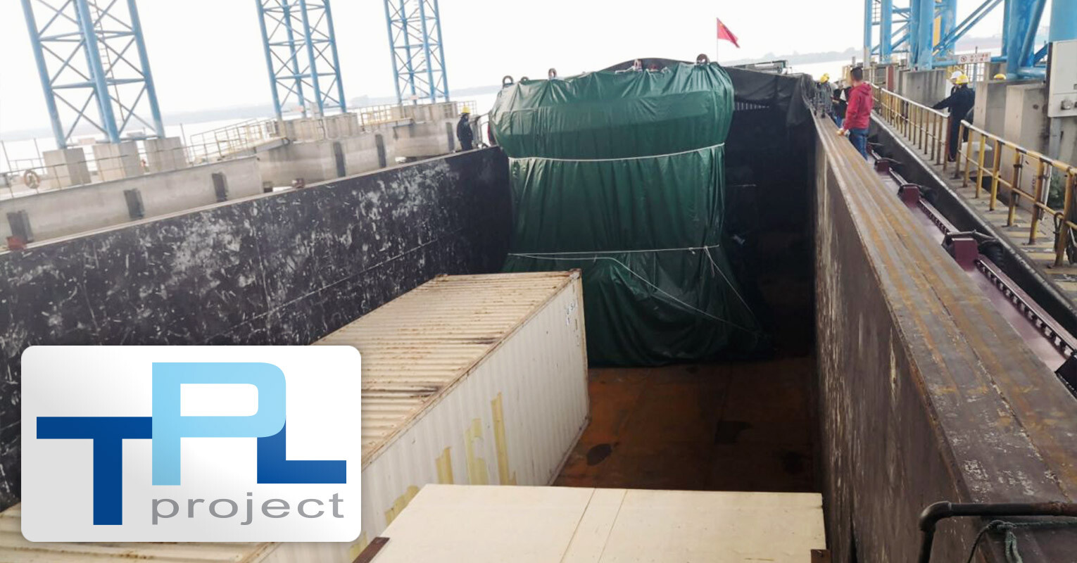 TPL Project Handled Ship Parts Destined for Europe with the Largest Piece Weighing 120 Tons and Measuring 6 Meters High