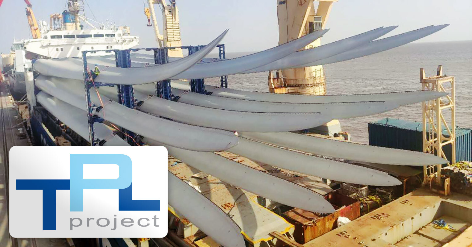 TPL Project Shipped 12 pcs WTG Blades to Thailand