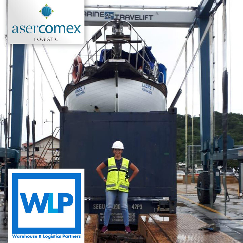WLP and Asercomex Colaborated on a Sailboat Transport from Panama to Valencia