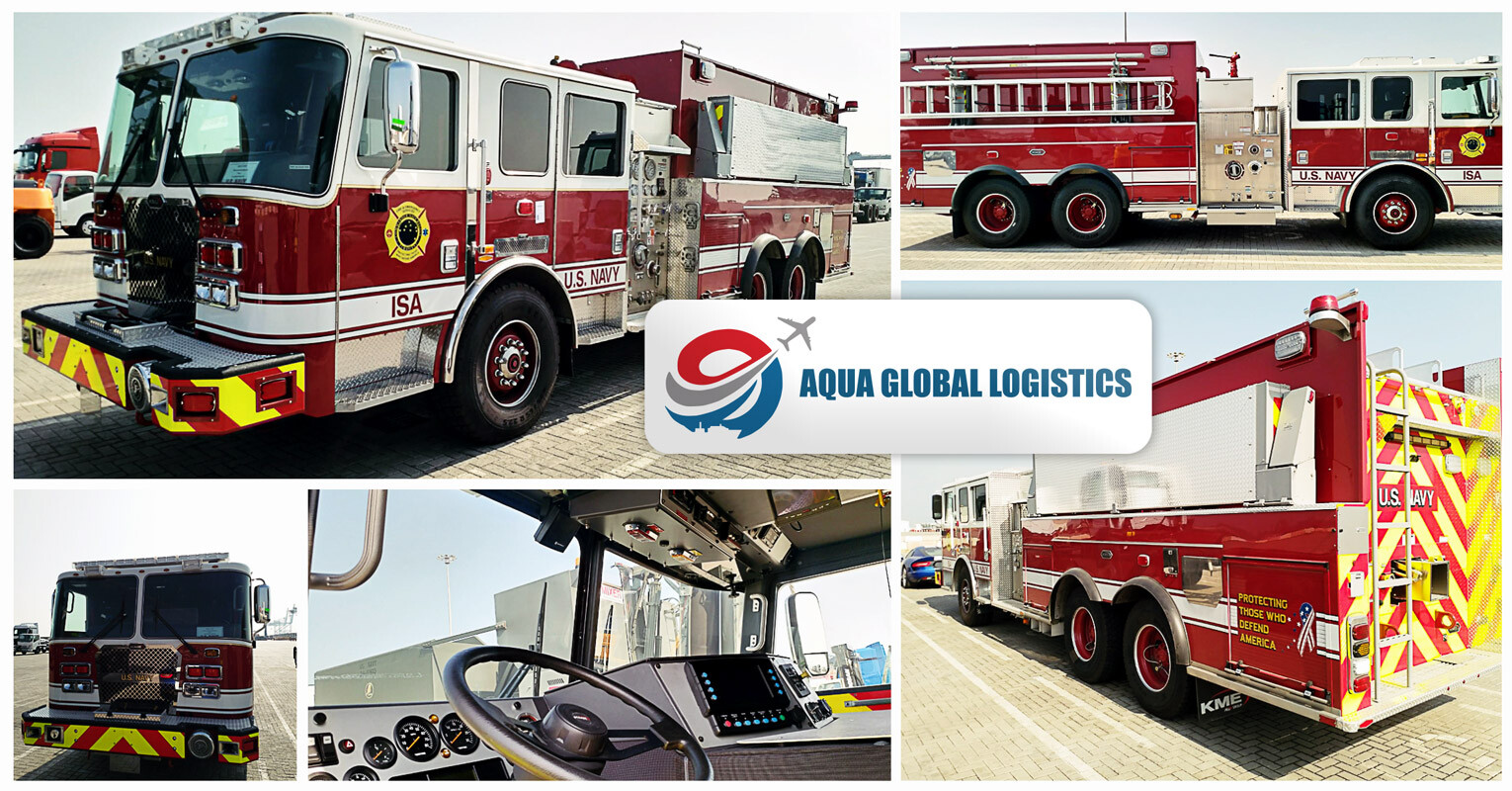 Aqua Global Bahrain Handled the RORO Import Clearance and Delivery of Fire Trucks for the US Navy Bahrain