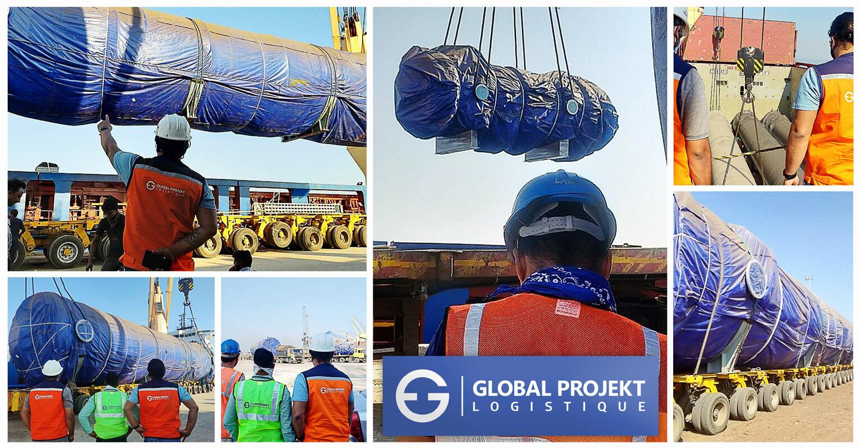 Global Projekt Logistique Shipped 2615 cbm / 40 units ex-Kandla to NOLA, USA for an EPG Project