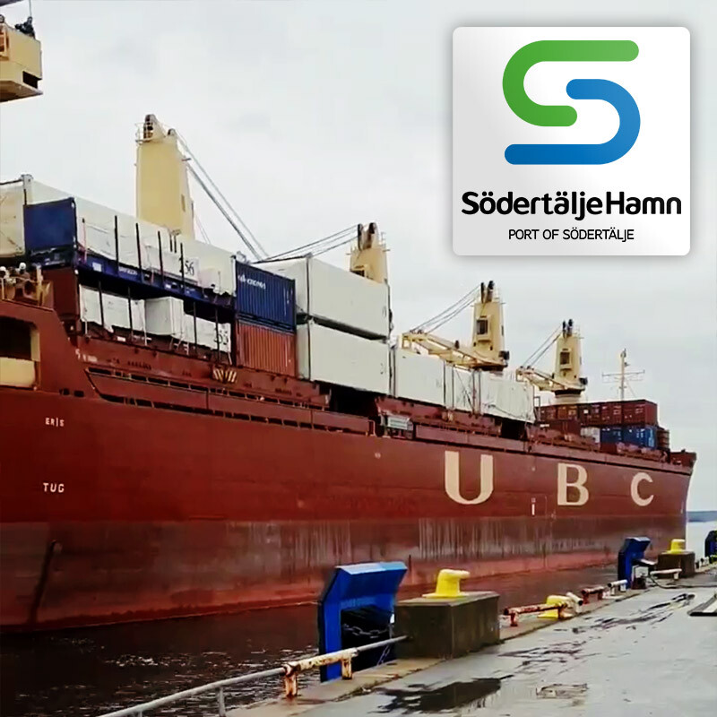 A Shipment with Housing Modules Arrived Port of Södertälje Today, Soon to Become New Momes for Many People