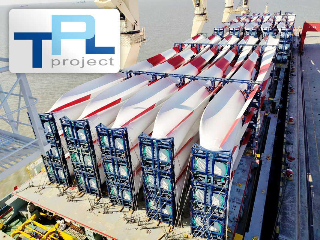 TPL Project Loaded 60 pcs of Wind Turbine Blades in Shanghai Destined for Egypt