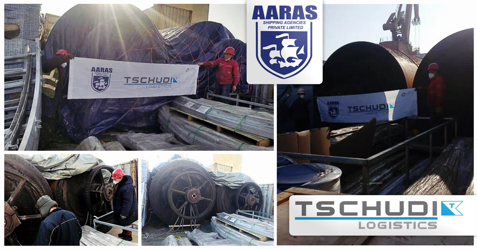 Aaras Shipping and Tschudi Logistics Cooperated to Delivery 2 x 35mt Rollers ex-Tianjin to Karachi
