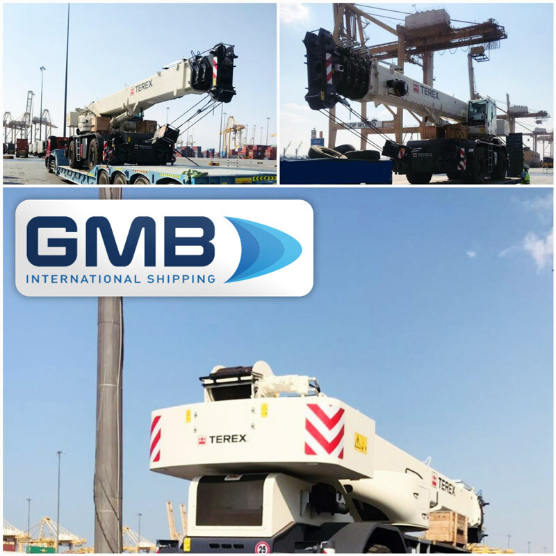 G M B International Shipping LLC Delivered Two Terex Cranes