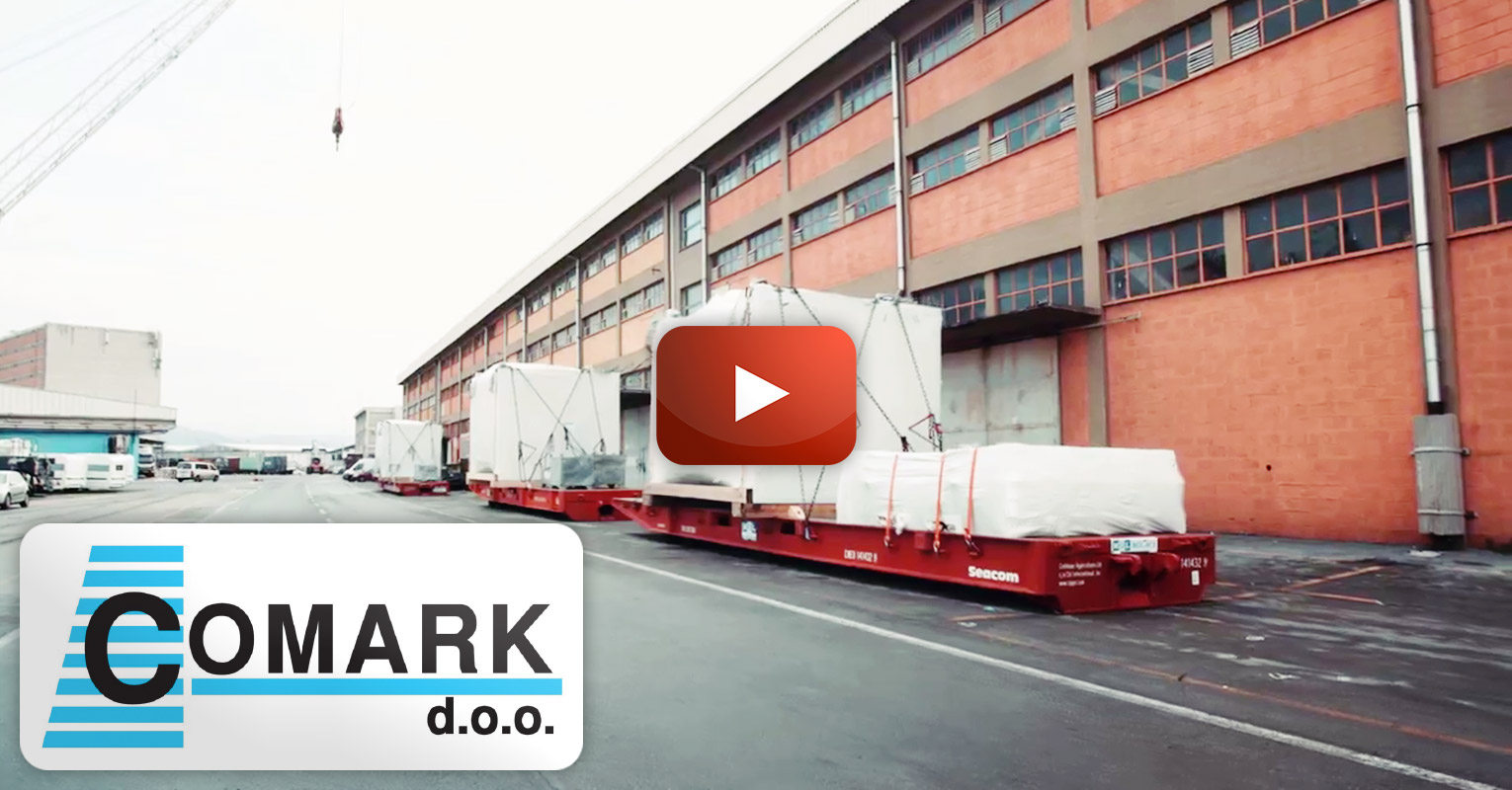 Comark Moved 15 pieces of Heavy Press Machines Weighing 30 to 70 tons from Europe to the Far East via Port of Koper by RORO