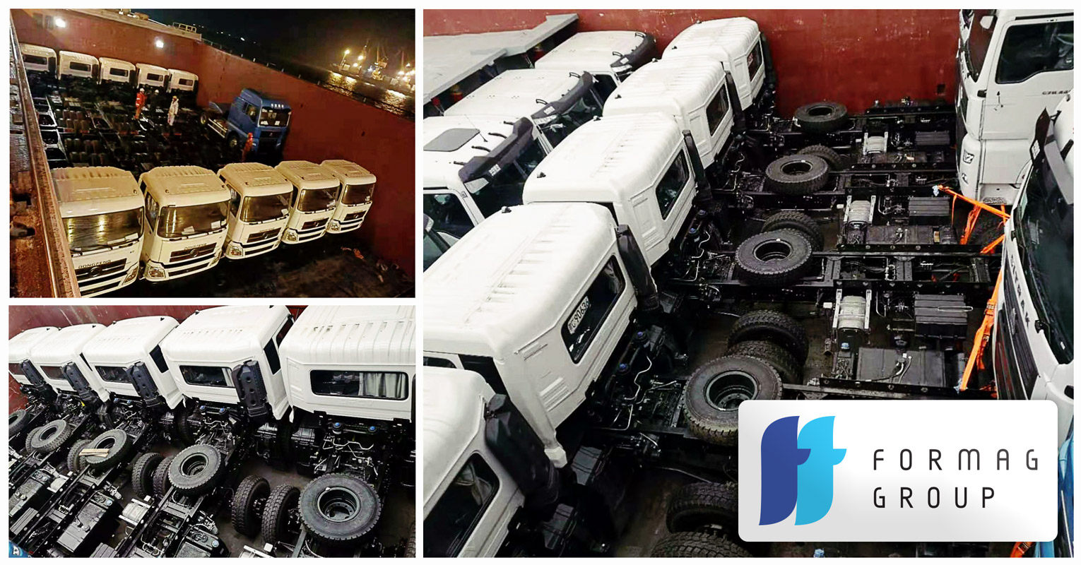 Formag Group Arranged Several Shipments of Truck Chassis using Breakbulk Ships