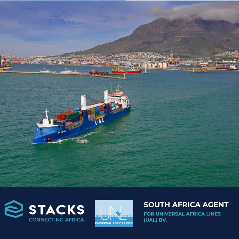 STACKS Announcement – South Africa Agent for Universal Africa Lines Netherlands bv