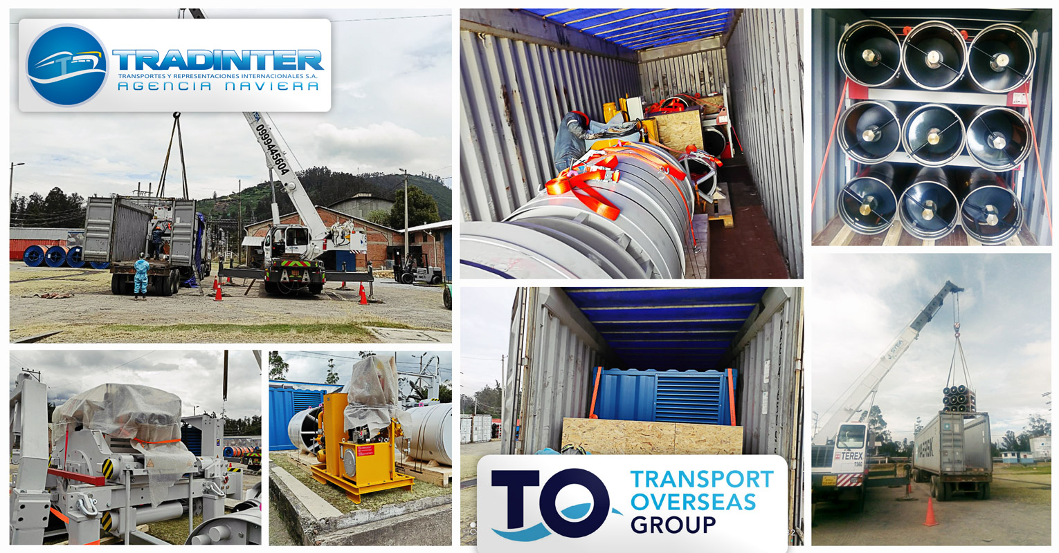 Tradinter and Trans Ocean Shipping collaborated on the transport of special tunneling equipment for Ecuador