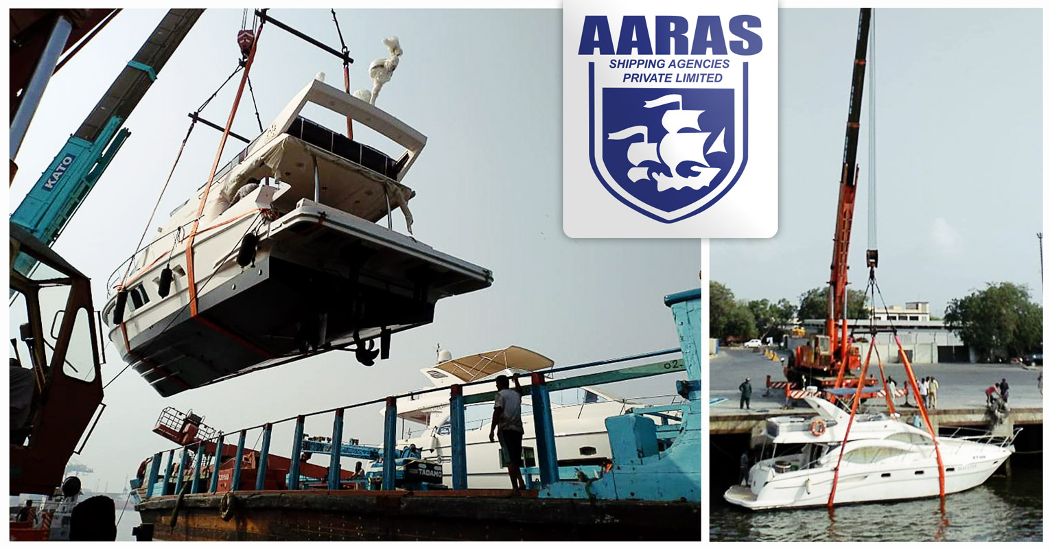 AARAS Transported Two Boats from Sharjah to Karachi Port