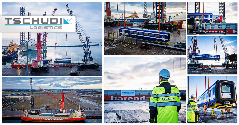 Tschudi has been Discharging Train Sets for DSB (The Danish State Railways) in the Port of Grenaa