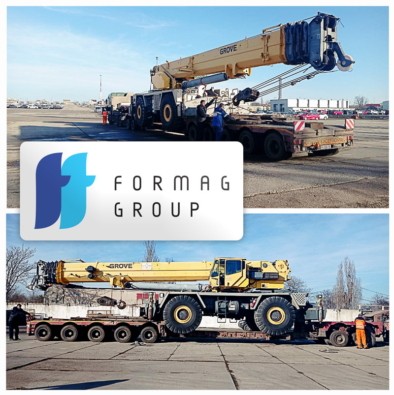 Formag Group Recently Handled Port Operations for an Mobile Crane which Arrived from the US to the Ferry Terminal of Chernomorsk Port, Ukraine