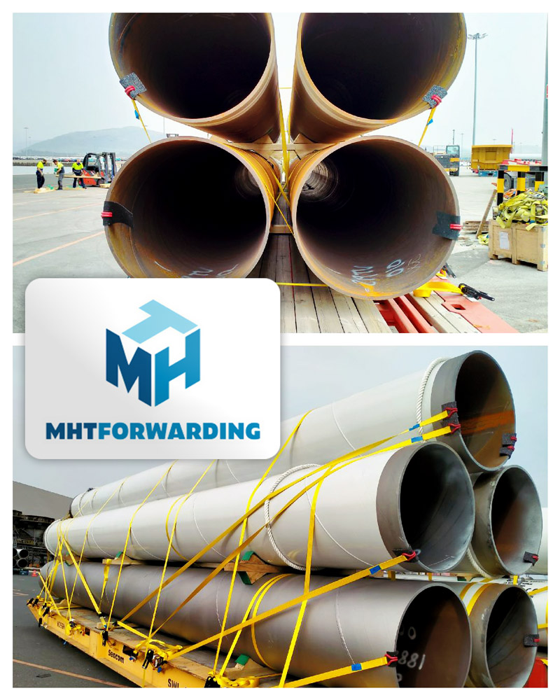 MHT Forwarding Delivered 45 Tubes All the Way to Réunion Island (550 km east of the island of Madagascar and 175 km southwest of the island of Mauritius)