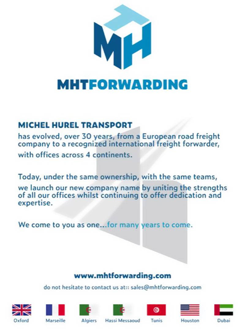 Michel Hurel Transport has been Re-branded to MHT Forwarding