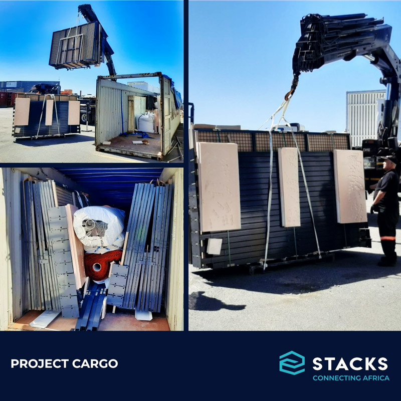 STACKS South Africa Performed an Unpack of Project Cargo Arriving in Multiple 40' Open Tops, Imported to Cape Town for a New Sports Installation