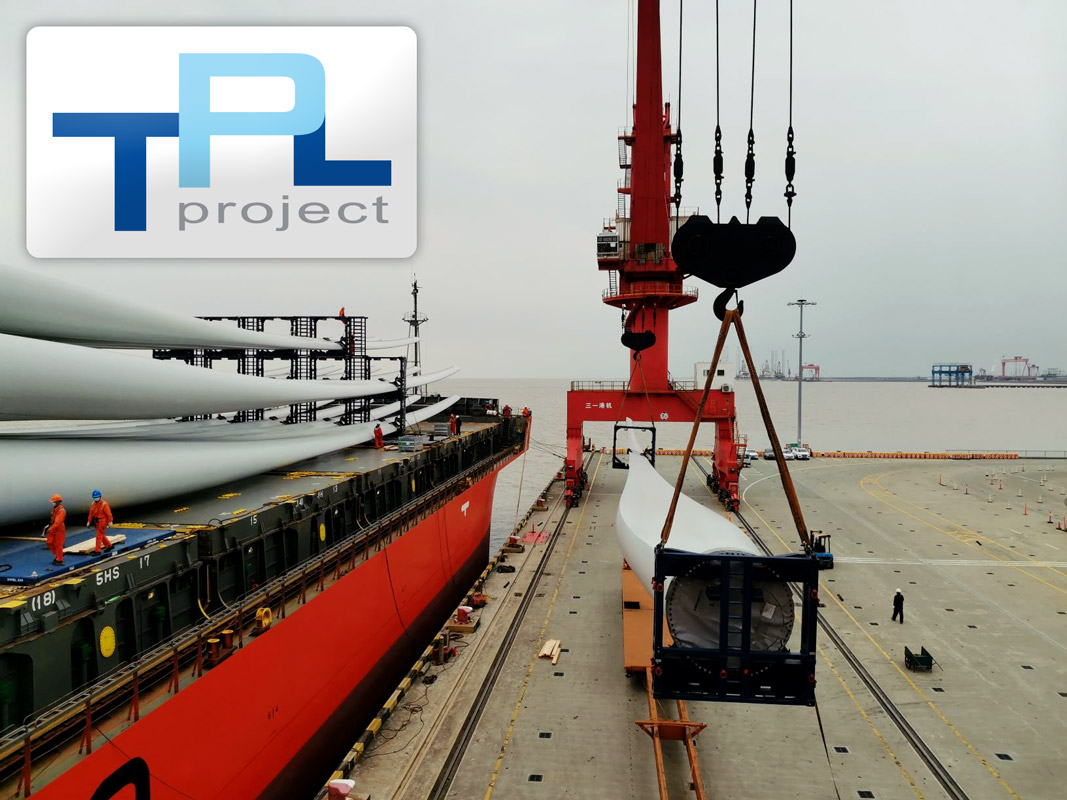 TPL Project Handled TEQ Mounting, Pickup, Port Operations, etc for 15 x WTG Blades from Shanghai to Norway