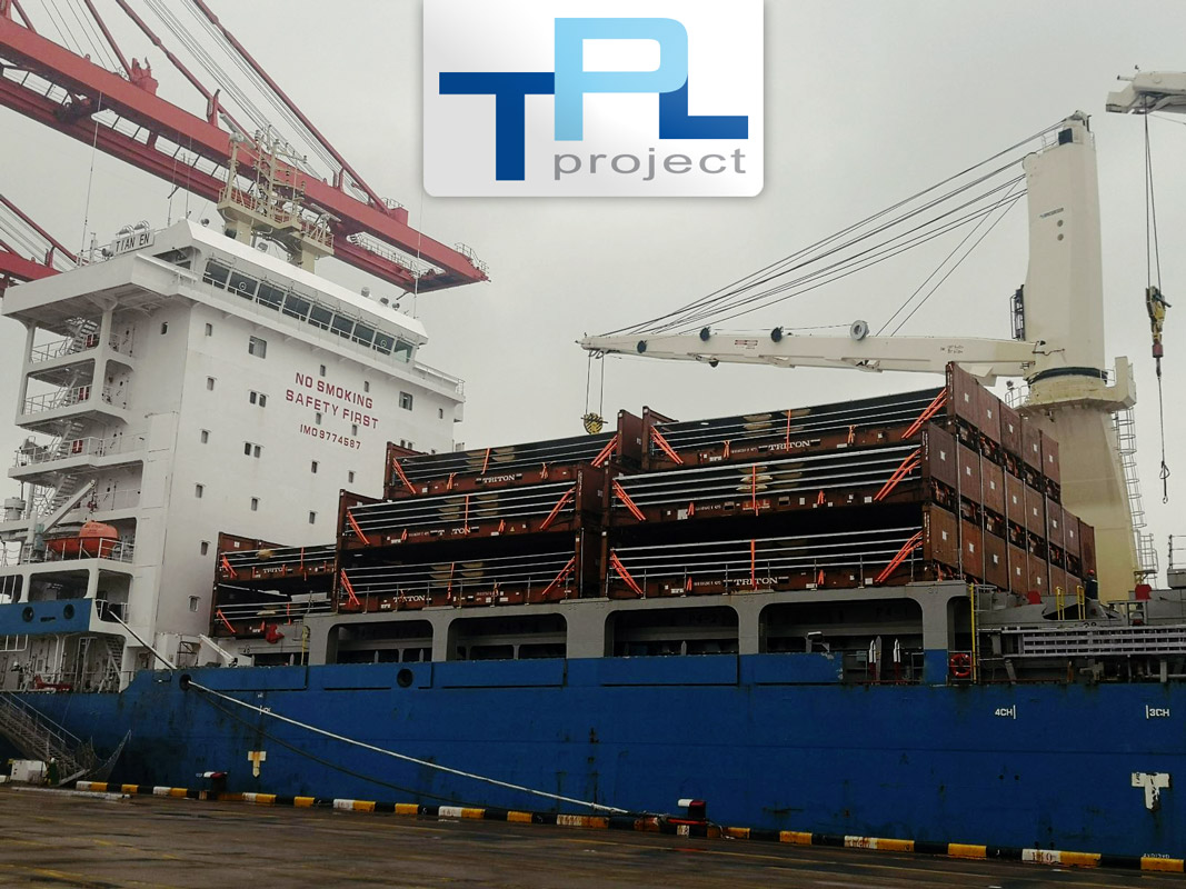 TPL Project Performed the Pre-carriage and Port Operations for 44x20'DC and 62x40'FR of Shell Towers Loaded in China Destined for the Netherlands