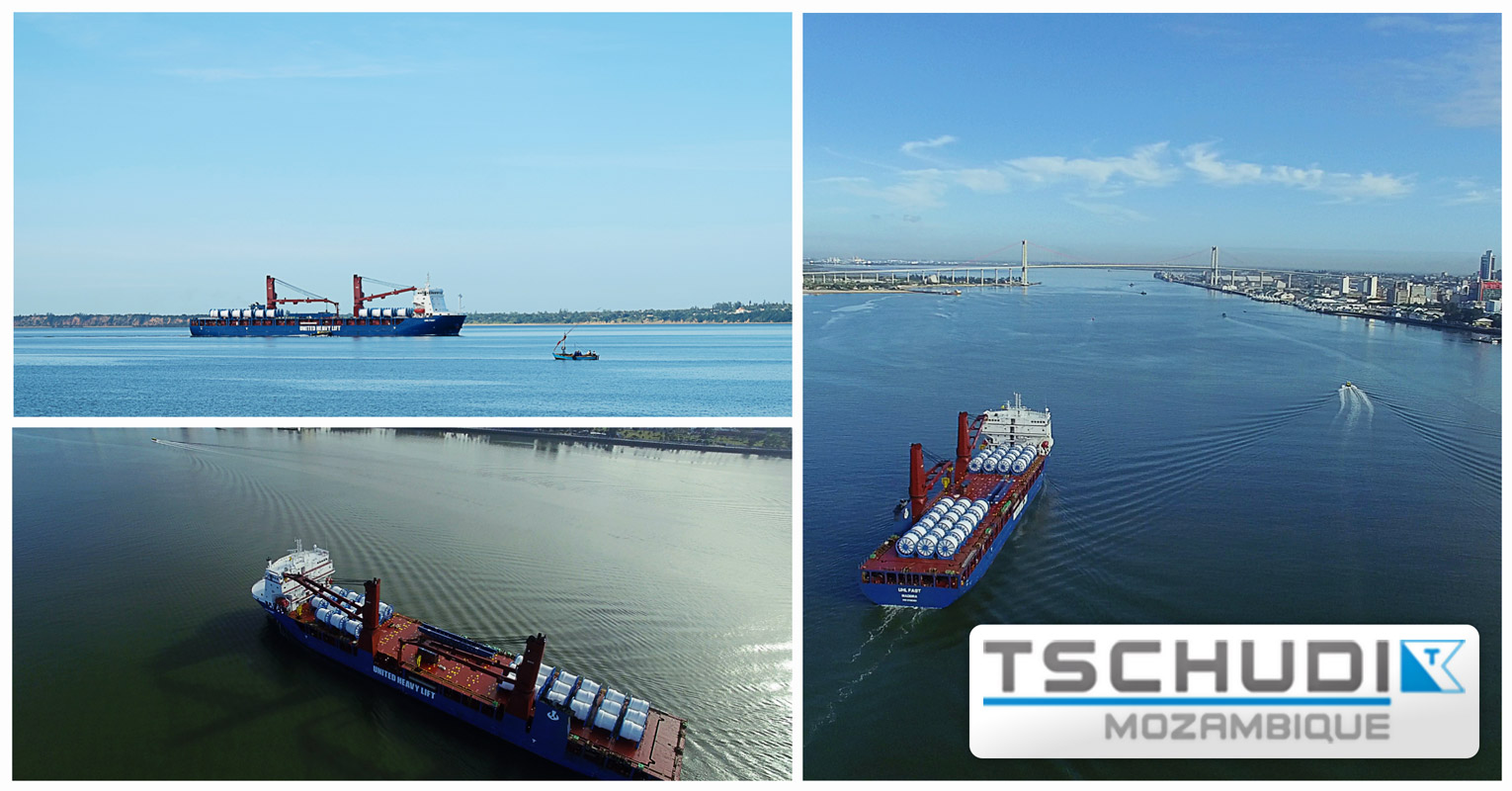 Tschudi Logistics Group Acted as Port Agent for United Heavy Lift GmbH of the Impression F900 mv UHL FAST, Discharging Anchor Chains and Ropes for the Coral FLNG