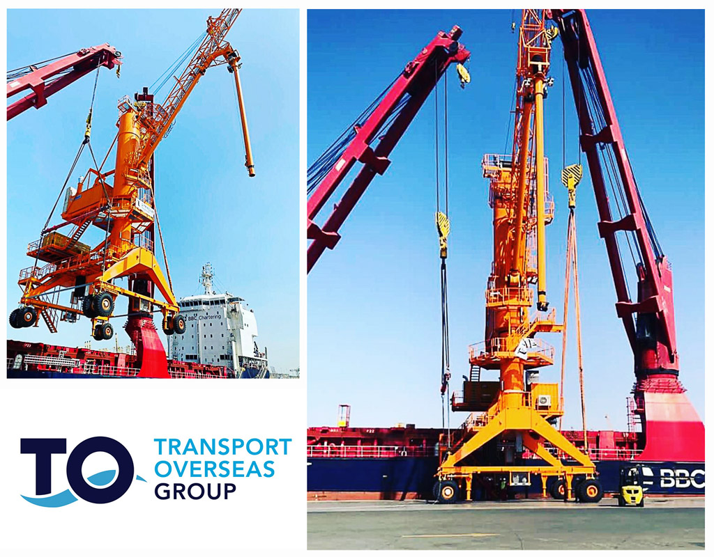Transport Overseas Completed a Shipment of a 151 ton, 28 meter High, Fully Assembled NEUERO Shiploader