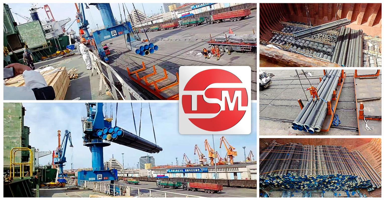 TSM Project Logistics Handled a 1750 FRT Breakbulk Shipment of Pipes from Shanghai to Lagos